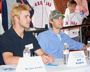 Josh Reddick and Daniel Bard in January 2009 - Photo by Kelly O'Connor/sittingstill.net and used with permission